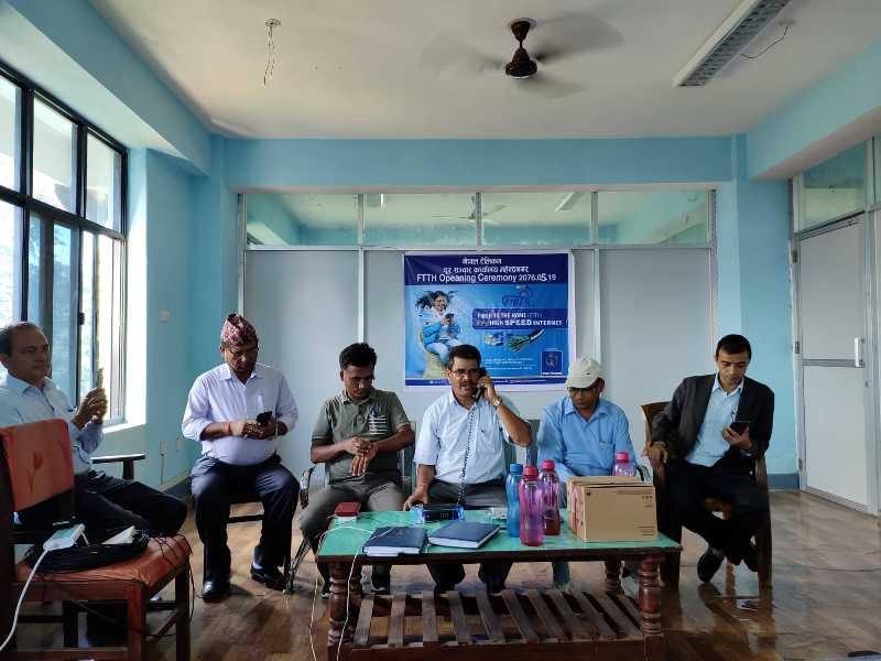 Ntc launches fiber internet FTTH in Mahendranagar