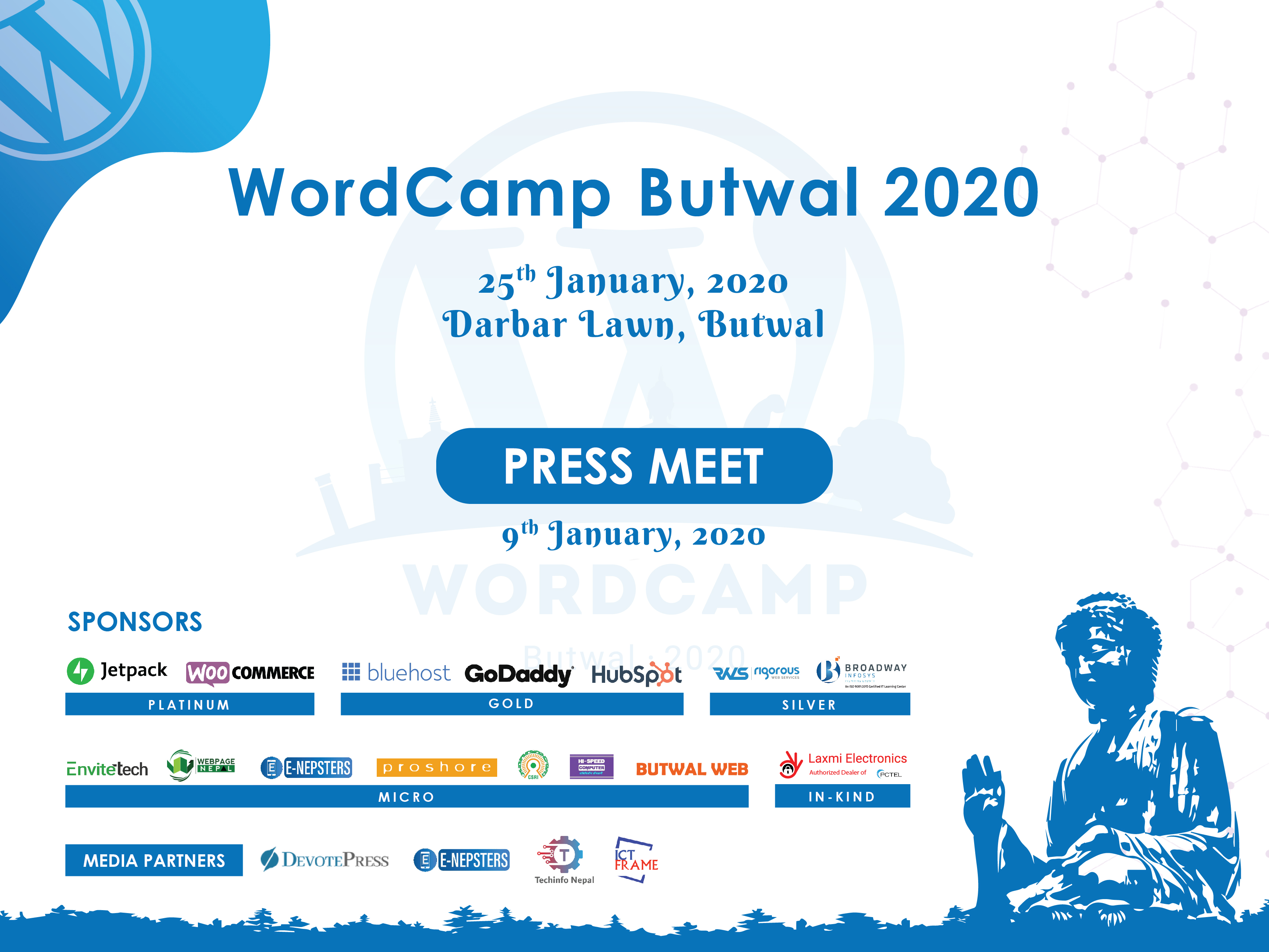 Press Meet Of WordCamp Butwal 2020
