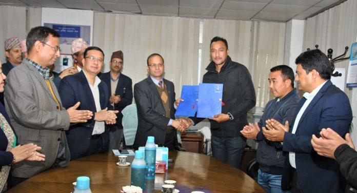 Khadka appointed brand ambassador of Nepal Telecom