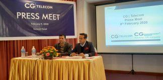 Press Conference organized by CG Telecommunications in Kathmandu