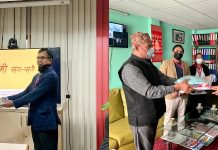 PPE handover to shree memorial hospital and Madhyapur hospital