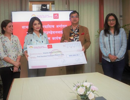Financial support to Shweta Shree Foundation