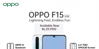 Features of OPPO F15