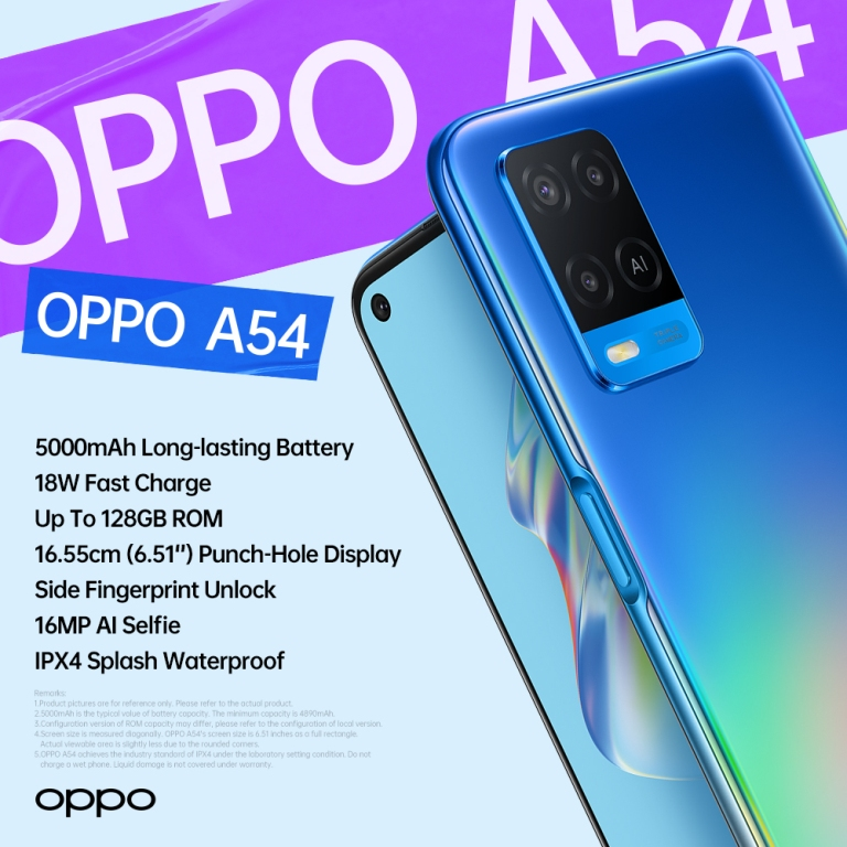 OPPO A54 Spec